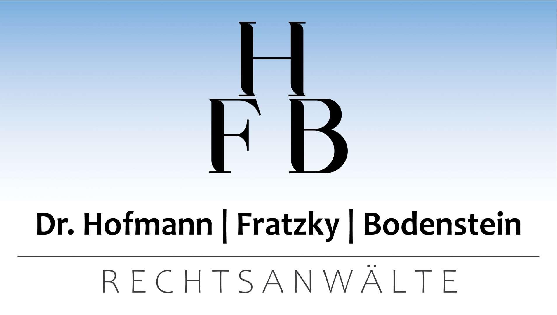 HFB Rechtsanwälte Dr. Hofmann - Fratzky - Bodenstein